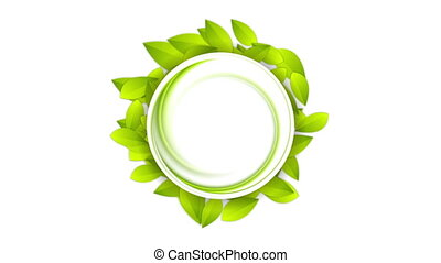 Green summer leaves abstract video animation - Green summer...