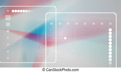 Abstract red and blue technology video animation - Abstract...
