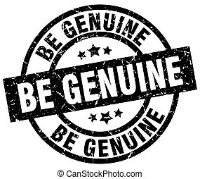 be genuine round grunge black stamp