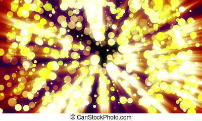 Abstract background with golden light bokeh on dark....