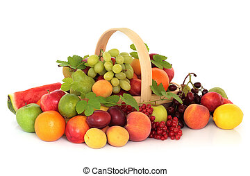 Fruit Selection - Large fruit collection in an arrangement...