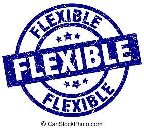 flexible blue round grunge stamp
