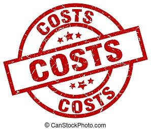 costs round red grunge stamp