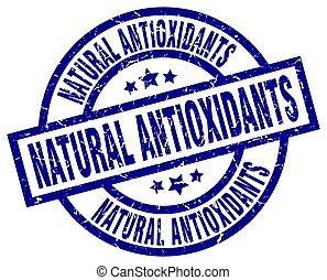 natural antioxidants blue round grunge stamp