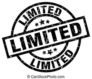 limited round grunge black stamp