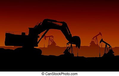 Bad environment with construction industry vector...