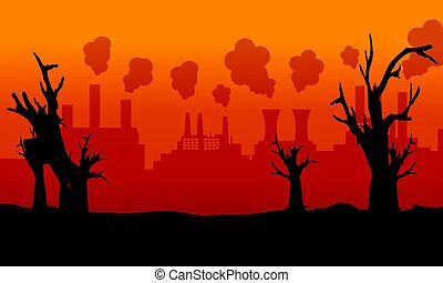 Collection of bad environment with forest on fire...
