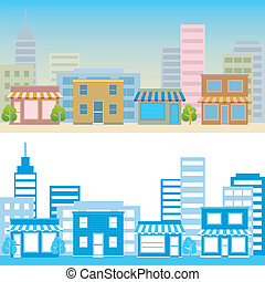 Street scene Illustration vector