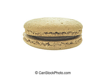 Macaron coffee flavour biscuit layers