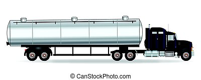 Petrol Tanker Truck - The front end of a large fuel truck...