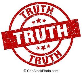 truth round red grunge stamp