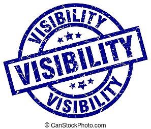 visibility blue round grunge stamp
