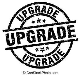 upgrade round grunge black stamp