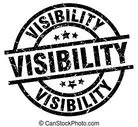 visibility round grunge black stamp