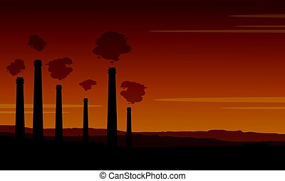 Bad environment pollution industry background