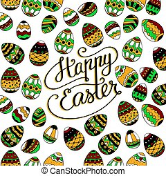 Happy Easter. Unique lettering poster. - Happy Easter....