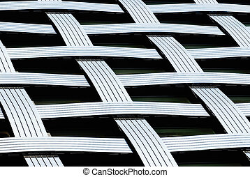 Abstract lines, fragmnet of a modern architecture building.