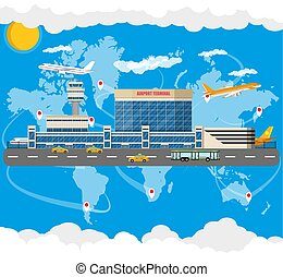 International airport concept.