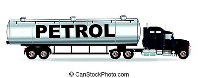 Petrol Tanker Truck - The front end of a large petrol truck...