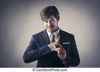 Elegant businessman with mustache