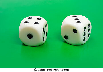 Two gambling dices