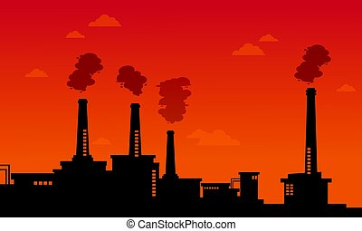 Pollution industry bad environment background