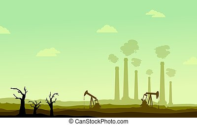 Clean forest for construction industry vector illustration