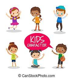 Teen preteen kids cartoon characters - Happy teen preteen...