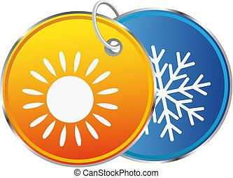 Heat and cold symbol