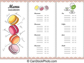 Menu design template dessert