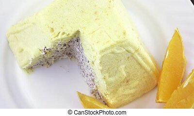 Easter curd paska kulich - Rotation of the easter cake with...