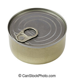 Tin Can - Blank tin can isolated on white