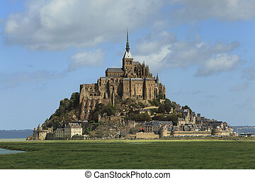 Mont St. Michel - Image of the Monastry from Mountain...