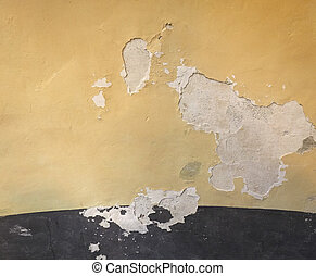Damp moisture on wall - Damage caused by damp and moisture...