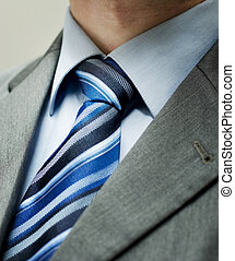 Tie - Closeup of a tie. Shallow depth-of-field, the...