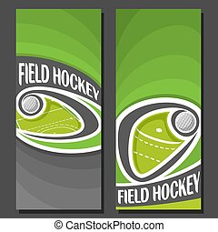 Vector vertical Banners for Field Hockey: 2 layouts for...