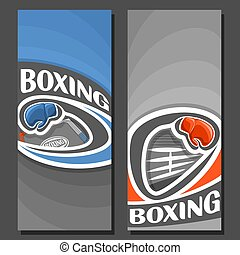 Vector vertical Banners for Boxing: 2 layouts for title text...