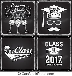 Vector Class of 2017 badge. - Vector Class of 2017 badge on...