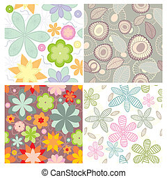 collection of cute seamless wallpaper - vector small...