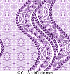 Abstract ethnic background - Violet waves. Abstract ethnic...