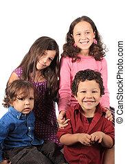 vier, junger, Kinder