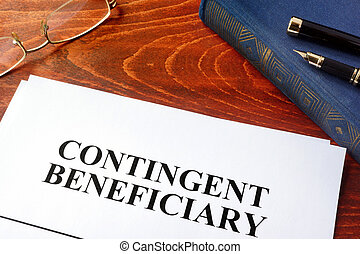 Document with title contingent beneficiary