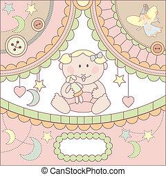 vector cute baby card