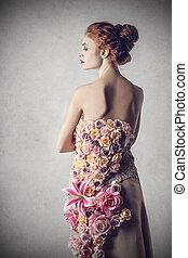 Woman in sundress - Woman posing in sundress