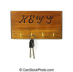 Key rack with keys