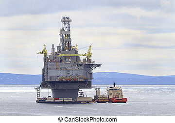 Oil and Gas - Oil and gas platform