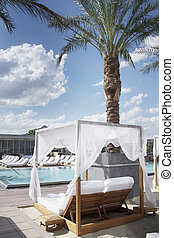 Poolside cabana beside luxury resor - Beautiful poolside...