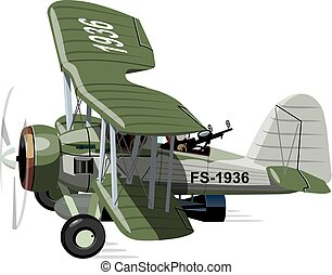 Cartoon Retro torpedo bomber - Vector cartoon retro torpedo...