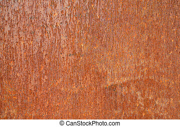 Rust metal surface - Closeup of rcorroded metal surface...