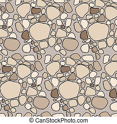 Stationery IV - A seamless offset pattern with stones and...